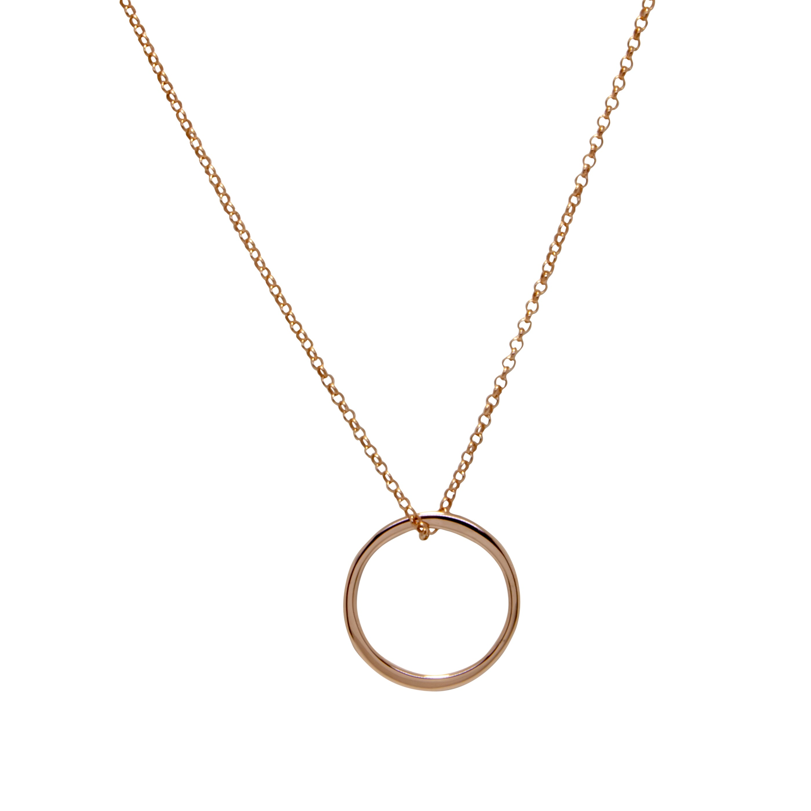 Inner Circle Necklace - Rose Gold Plated