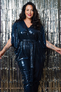 SEQUIN KAFTAN JUMPSUIT