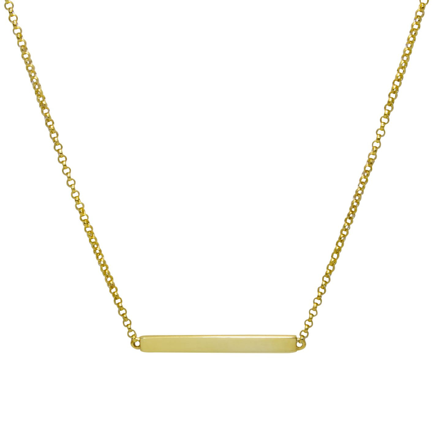 Bar By Name -Gold Plated