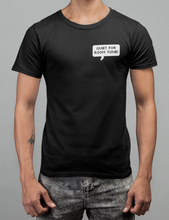 Load image into Gallery viewer, Quiet For Room Tone Unisex T-Shirt in Black, Heather Black & White - Free Shipping!