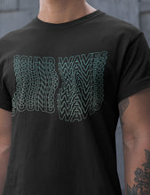 Load image into Gallery viewer, Sound Waves T-Shirt in Black