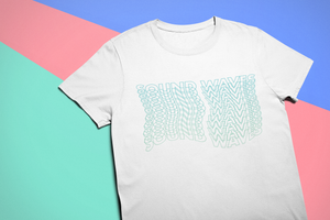 Sound Waves T-Shirt in White
