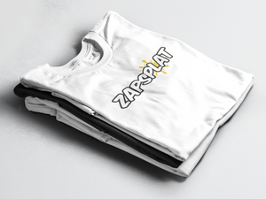 ZapSplat T-Shirt in Black and White - Free Shipping