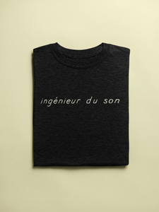 ingénieur du son T-Shirt folded in black