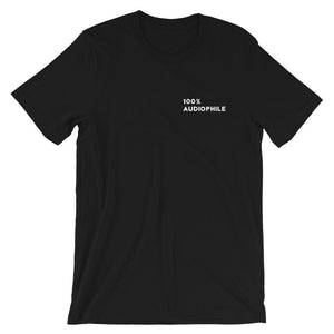 100% Audiophile T-shirt in Black