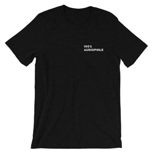 100% Audiophile T-shirt in Black Heather