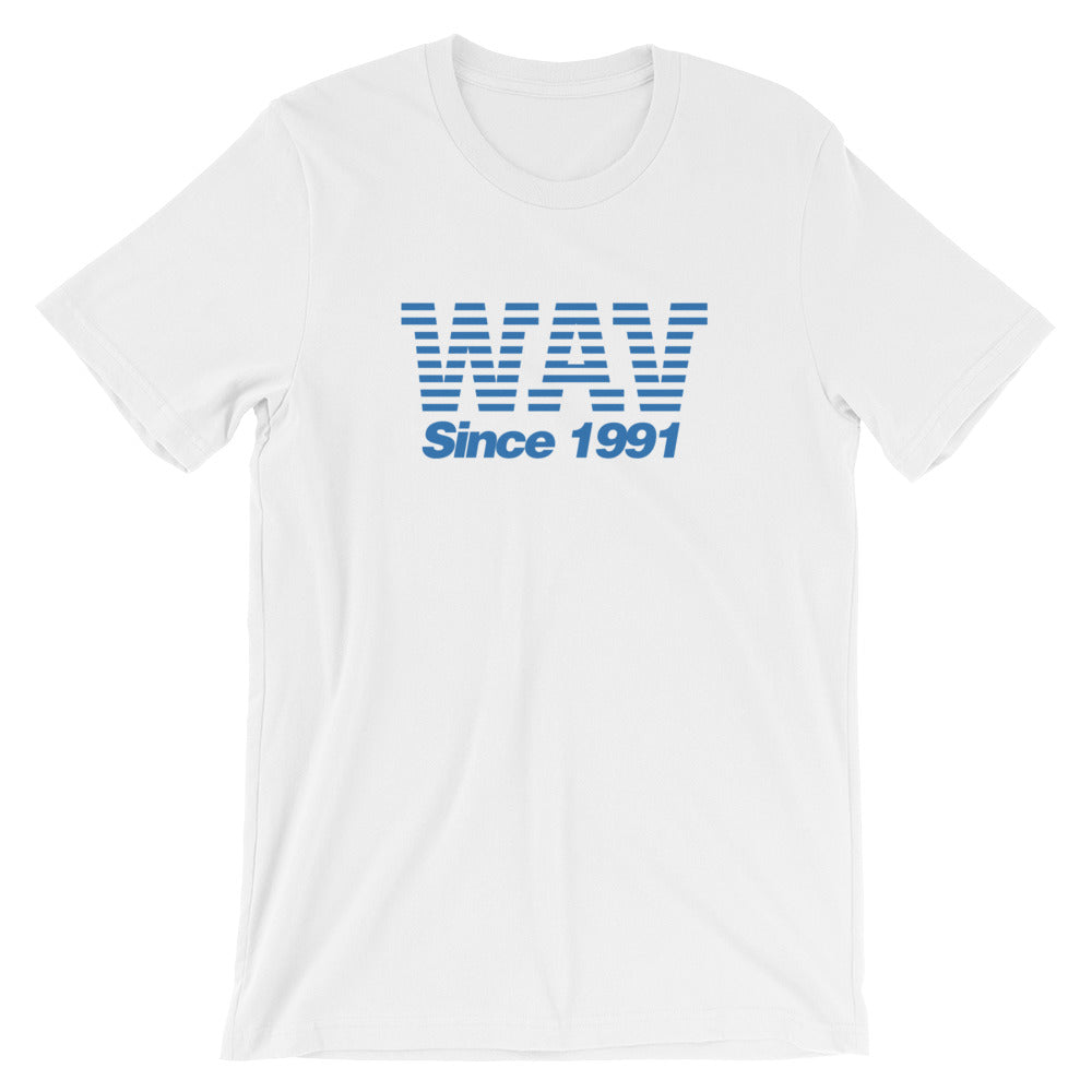 Wav Since 1991 Unisex T-Shirt in Black, Heather Black & White - Free Shipping!