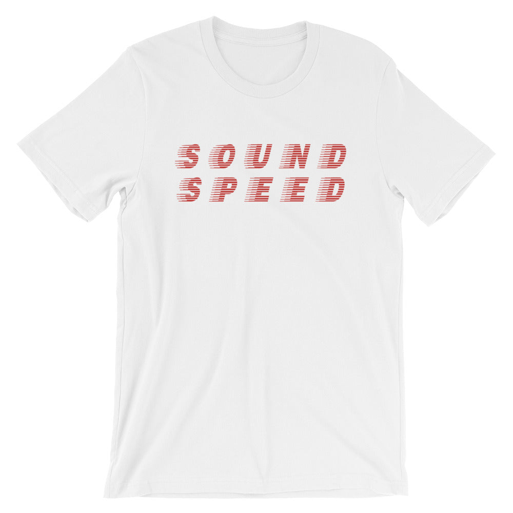 Sound Speed Unisex T-Shirt in Black, Heather Black & White - Free Shipping!