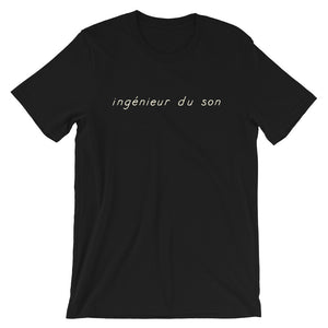 ingénieur du son T-Shirt in black