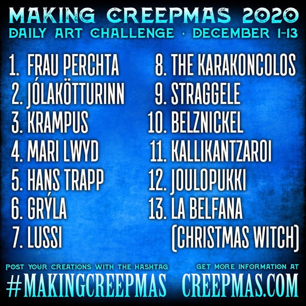 The First Day of #Creepmas I make spooky Christmas Gift Tags For Gothmas #makingcreepmas