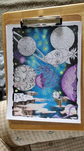 May 28 I'm working on a new Piece of #art called The Moons of Saturn Space Time #artist