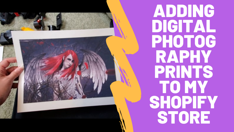 Behind the Scenes: Adding Digital Photography Prints To My Shopify Store #spopify #digitalartist #darkart #youtubeartist