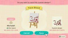 blood splatter animal crossing