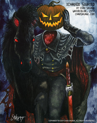 chad savage halloween art