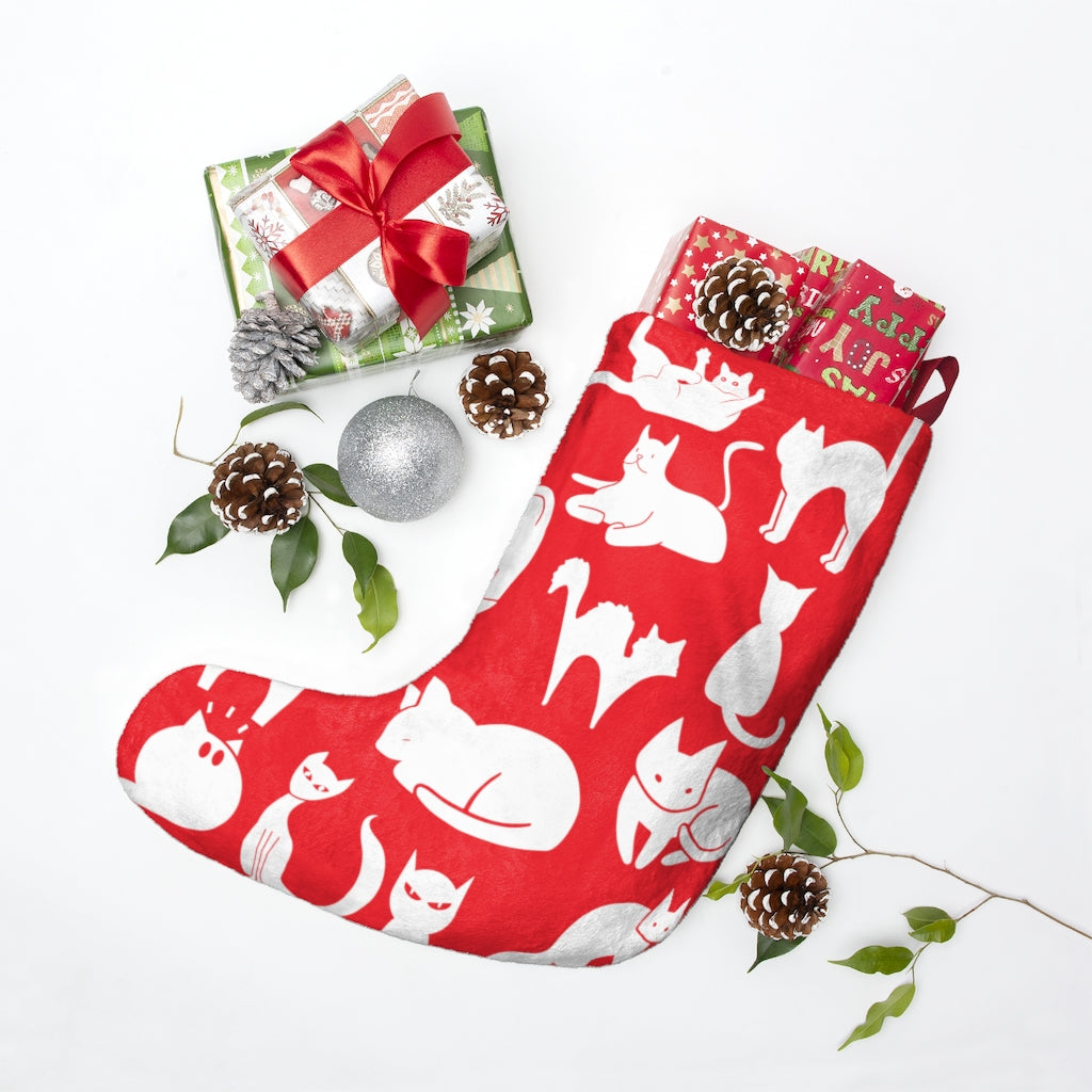 Cute Cats Playing Christmas Stocking