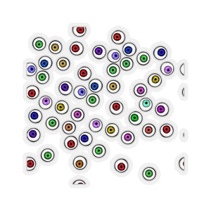 Halloween Eyeballs Everywhere Kiss-Cut Stickers