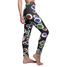 Load image into Gallery viewer, Eyeballs Everywhere Goth Fashion Women's  Halloween Leggings