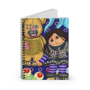 Scary Toys Spiral Notebook - Ruled Line
