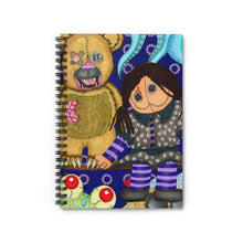 Load image into Gallery viewer, Scary Toys Spiral Notebook - Ruled Line