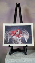 Load image into Gallery viewer, Red Angel Gothic Art Print Signed by Artist 9x12