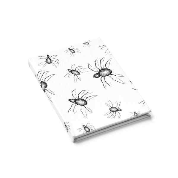 Halloween Journal Black and white spider web Design  - Ruled Line