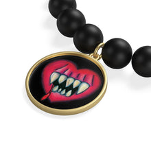 Load image into Gallery viewer, I'll Eat Your Heart Out Matte Onyx Bracelet