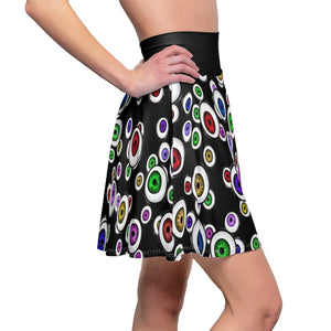 Goth Fashion Eyeballs Everywhere Women's Skater Skirt