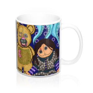 Halloween Coffee Mug Scary Toys by artist Roxanne Crouse