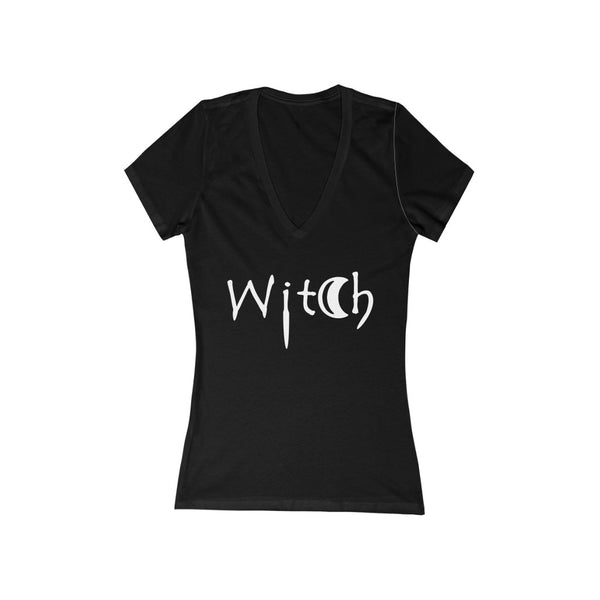 Witch Women's Jersey Short Sleeve Deep V-Neck Tee