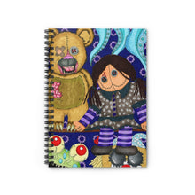 Load image into Gallery viewer, Scary Toys Artwork Spiral Notebook - Ruled Line