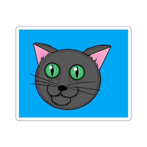 Grey Kitty Kiss-Cut Stickers
