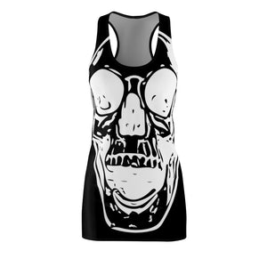 Goth Black Skull Women's  Racer back Dress