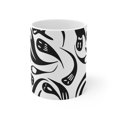 Spooky Halloween ghost coffee mug gift for goths