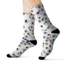 Load image into Gallery viewer, Halloween Eyeballs Everywhere Goth Socks