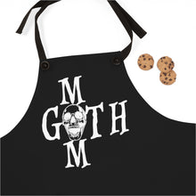 Load image into Gallery viewer, Black Apron with Goth mom in White Skull Apron