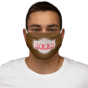 Beer Mask Snug-Fit Polyester Face Mask