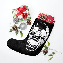 Load image into Gallery viewer, Black Goth Mom and Skull Halloween For Christmas Stockings