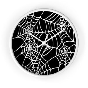 Halloween Decoration Black and white  spider web Wall clock