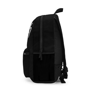 The word Witch in white letters on a black Backpack (Made in USA)