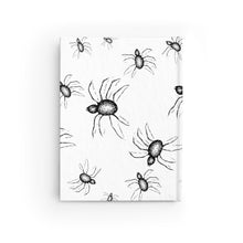 Load image into Gallery viewer, Halloween Journal Black and white spider web Design  - Ruled Line