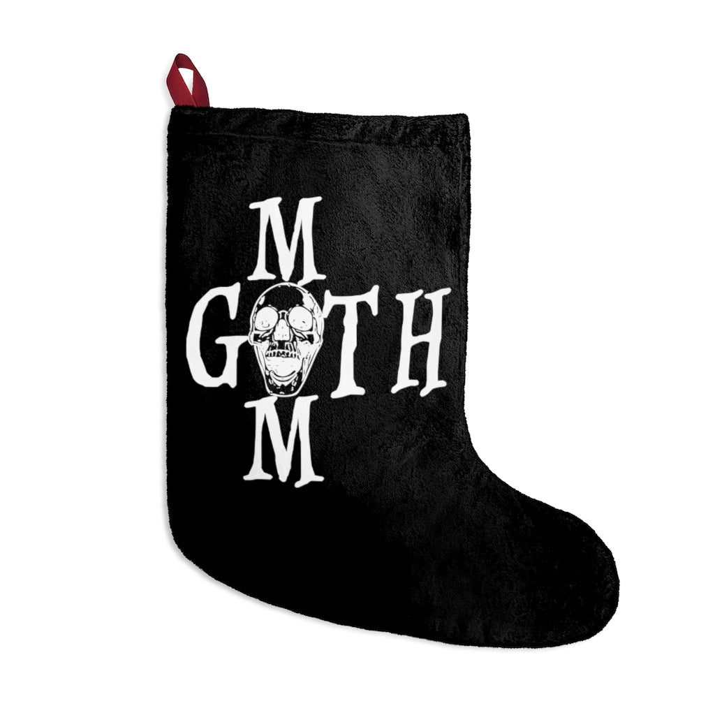 Black Goth Mom and Skull Halloween For Christmas Stockings