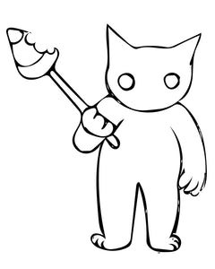 Free to download Coloring page of cute spooky Halloween Cat