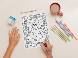 Free Spooky Halloween Printable Coloring page PDF