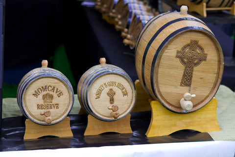 Royalty Free Stock Photo of Barrels at a fair for alcohol momcave