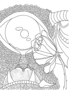 The Sad One Eyed, One Horned, Flying Purple People Eater printable Adult Coloring Page