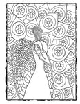 Downloadable Coloring Page Peacock