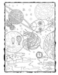 Dark Whimsical Art Downloadable Coloring Page Strange World