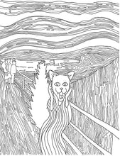 Load image into Gallery viewer, The Hiss Parody of The Scream Printable Adult Coloring Page