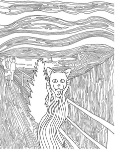 The Hiss Parody of The Scream Printable Adult Coloring Page