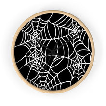 Load image into Gallery viewer, Halloween Decoration Black and white  spider web Wall clock
